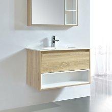 Mueble de lavabo FRAME 80 cm color roble