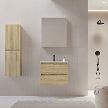 Mueble de lavabo LIMPIO 60 cm color roble