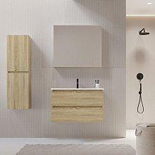 Mueble de lavabo LIMPIO 80 cm color roble
