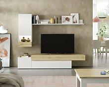 Mueble de salón Xenia Lacado Blanco Brillo /