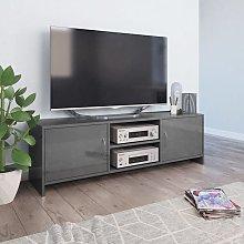 Mueble de TV de aglomerado gris brillante