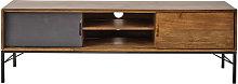 Mueble de TV de mango y metal negro
