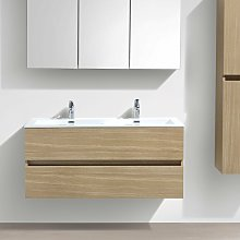 Mueble lavabo + lavabo 120cm MONTADO SIENA ROBLE