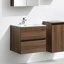 Mueble lavabo + lavabo 60cm MONTADO SIENA NOGAL