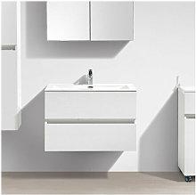 Mueble lavabo + lavabo 80cm MONTADO SIENA BLANCO