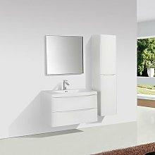 Mueble Lavabo + Lavabo 90 cm MONTADO - Blanco