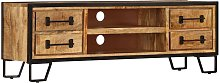 Mueble para la TV con cajones madera mango maciza