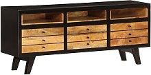 Mueble para la TV madera maciza de mango 120x30x50