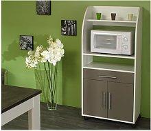 Mueble para microondas COLEEN - Gris topo - 2