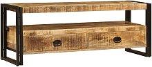 Mueble para TV 120x30x45 cm madera maciza de mango