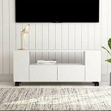 Mueble para TV aglomerado blanco 120x35x43cm -