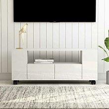 Mueble para TV aglomerado blanco brillante