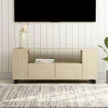 Mueble para TV aglomerado color roble Sonoma