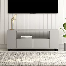 Mueble para TV aglomerado gris 120x35x43cm - Hommoo