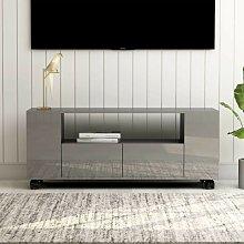 Mueble para TV aglomerado gris brillante 120x35x43
