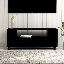 Mueble para TV aglomerado negro 120x35x43cm -