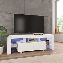 Mueble para TV con luces LED blanco brillante