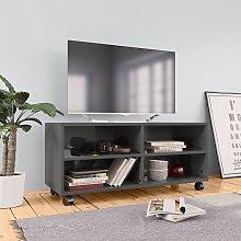 Mueble para TV con ruedas aglomerado gris