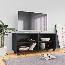 Mueble para TV con ruedas aglomerado negro