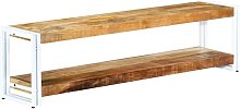 Mueble para TV de madera maciza de mango 150x30x40
