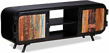 Mueble para TV de madera reciclada 120x30x45 cm -