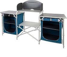 Mueble plegable cocina camping con paravientos + 2