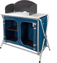 Mueble plegable cocina camping con paravientos -