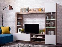 Mueble TV ARKALA con compartimentos - LEDs -