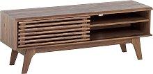 Mueble TV en madera oscura TOLEDO