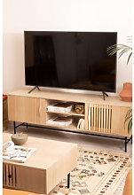 Mueble TV en MDF Cialu Madera Natural Sklum