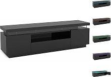 Mueble TV LED Ruth lacado - Negro