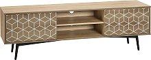 Mueble TV madera clara TORVI