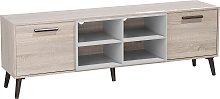 Mueble TV marrón claro/gris ALLOA