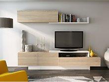 Mueble TV mural MONTY con espacios de almacenaje -