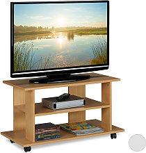 Mueble TV Ruedas con 2 Compartimentos, Mesa