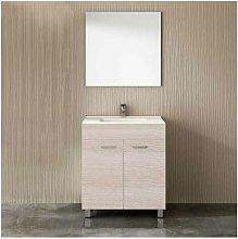 Mueble ULL con lavabo y espejo ARENA 75CM