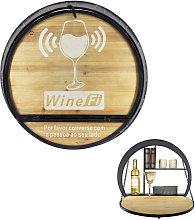 mueble vinos beirut con mesa abatible 65x17x65 cms