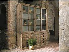 Mueble vitrina en madera maciza Árnica cm