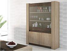 Mueble vitrina SUMAI - 4 puertas y 2 estantes -