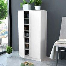 Mueble zapatero blanco con 7 estantes - Blanco