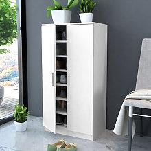 Mueble zapatero blanco con 7 estantes Vida XL