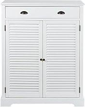 Mueble zapatero con 2 puertas y 1 cajón blanco
