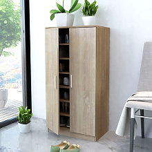 Mueble zapatero con 7 estantes de roble Vida XL