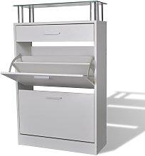 Mueble zapatero con cajón y estante superior de