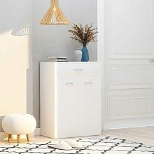 Mueble zapatero de aglomerado blanco 60x35x84 cm -