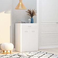 Mueble zapatero de aglomerado blanco 60x35x84 cm