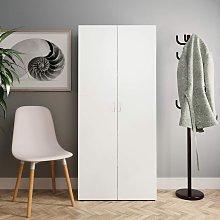 Mueble zapatero de aglomerado blanco 80x35,5x180 cm