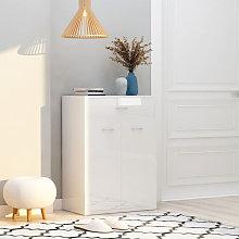 Mueble zapatero de aglomerado blanco brillante
