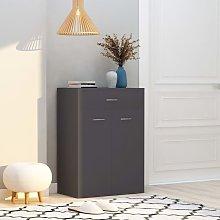 Mueble zapatero de aglomerado gris 60x35x84 cm -