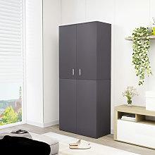 Mueble zapatero de aglomerado gris 80x39x178 cm